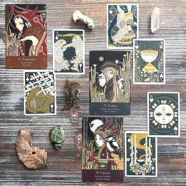 Universal Folklore Oracle and Illuminated Playing Cards