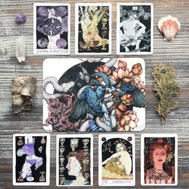 Lauren Marx Art Card and Black Lilly Tarot