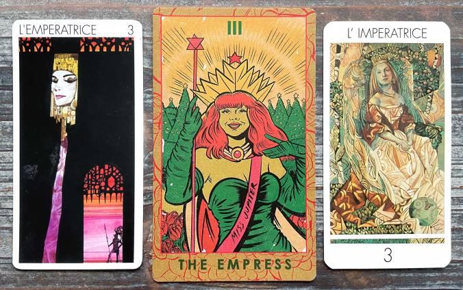 The Empress in the Tarots Universels, Zero Pop Deck, Tarocchi di Vetro