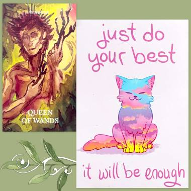 Cerise Tarot and Thera-Pets Emotional Support Animal Cards