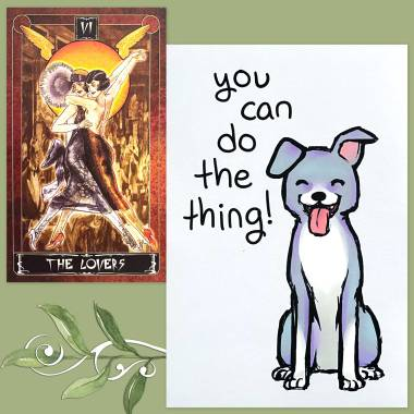 Cult of Weimer Tarot and Thera-Pets Emotional Support Animal Cards