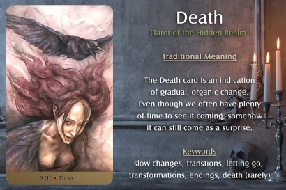 The Death Card from the Tarot of the Hidden Realm