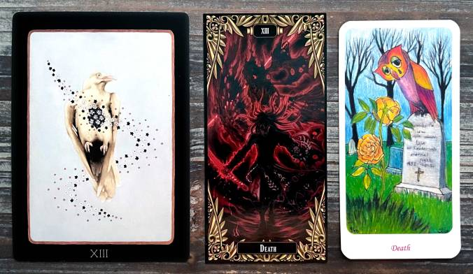 The Natural World Tarot, Anima: Gate of Memories Tarot, and Tierney's Delight Tarot