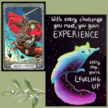 The Dark Mansion Tarot and Thera-Pets Emotional Support Animal Cards