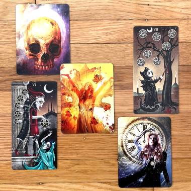 Halloween Oracle and the Deviant Moon Tarot