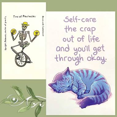 Skeleternity Tarot and Thera-Pets Emotional Support Animal Cards