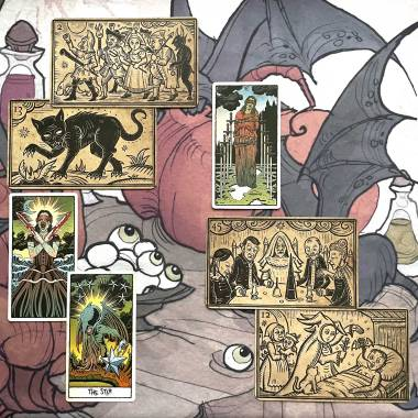 Mildred Payne's Oracle of Black Enchantment and Beauty of Horror Tarot