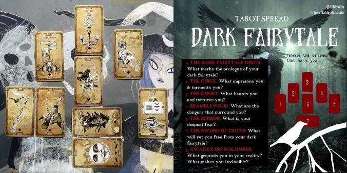 Dark Fairytale Lenormand Reading - Tea Bats Lenormand