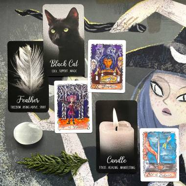 Silver Witch Oracle and All Hallows Tarot