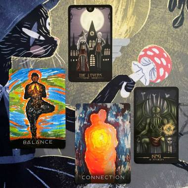 Wisdom of the Shadows Oracle and Gothic Horror Tarot