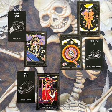 Flowers From the Dead Oracle and Sugar Skull Tarot